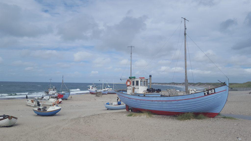 Fiskerbåde på stranden, Nørre Vorupør