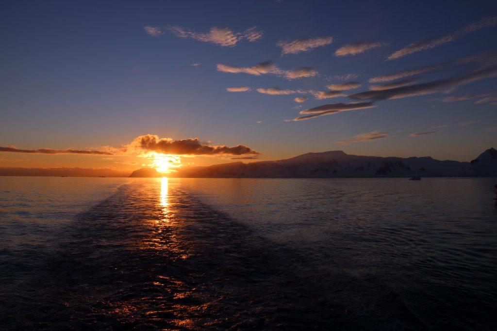 Årets sidste solnedgang