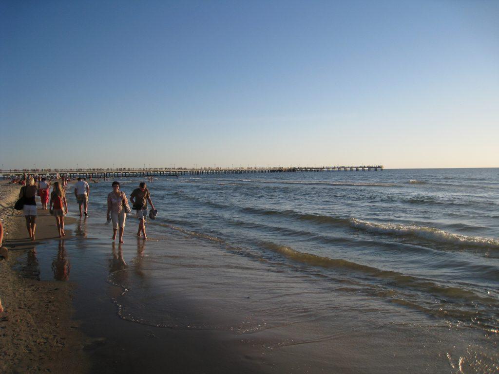 Ved stranden i Liepaja
