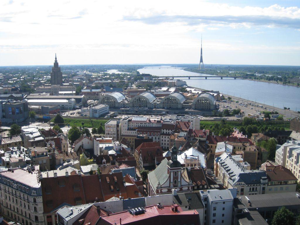 Udsigt over Riga