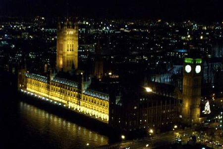 Westminster set fra London Eye