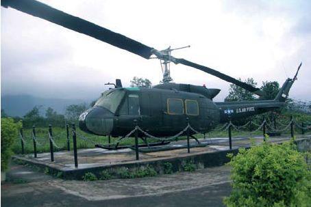 Gammel helikopter i DMZ